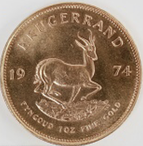 South African Krugerrand coin