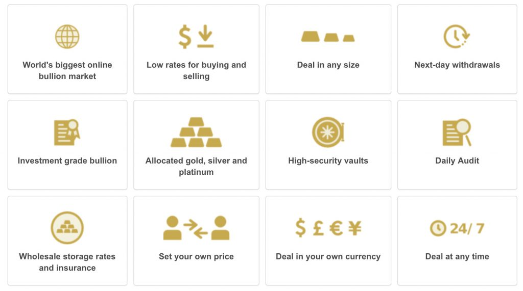 Reasons to buy gold and silver online with BullionVault