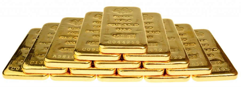 Why do people buy gold and silver bullion. Stack of gold bars