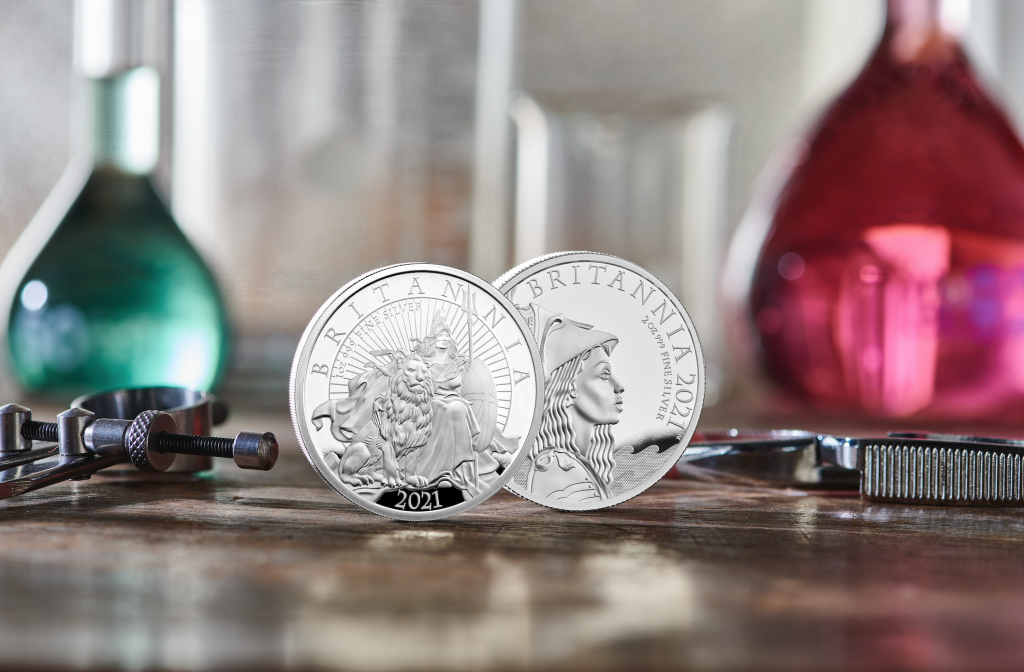 The Royal Mint celebrates British innovation two silver britannia coins