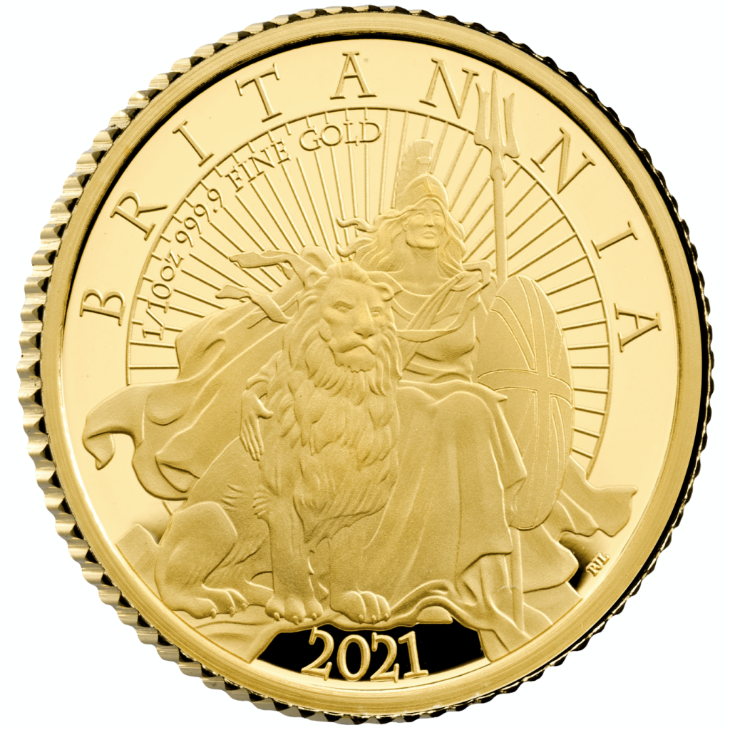 The Britannia 2021 UK Tenth Ounce Gold Proof Coin