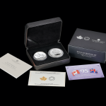 Royal Mint & Canadian Mint team up to produce a silver coin set to celebrate Queen's 95th Birthday