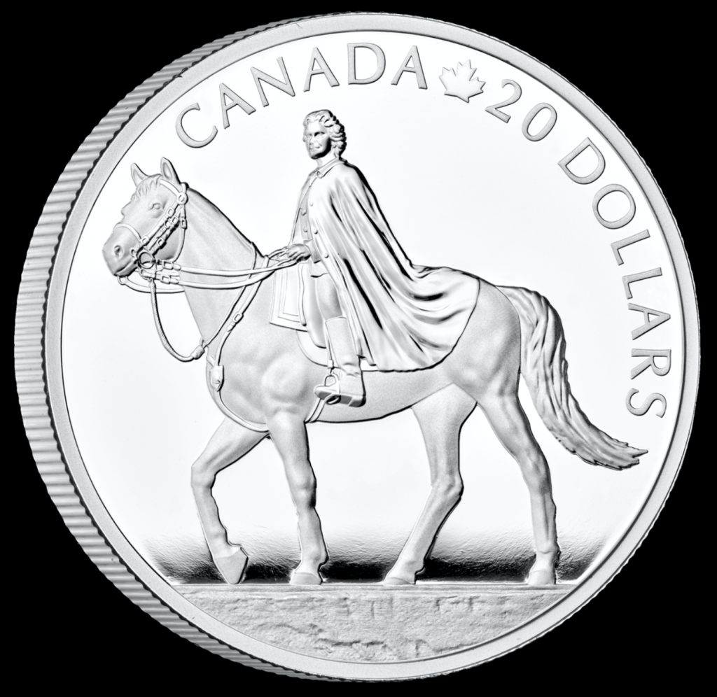 Canadian mint silver coin. Queens 95th Birthday.
